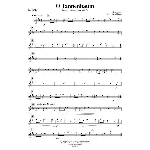 Noten Von O Tannenbaum.O Tannenbaum