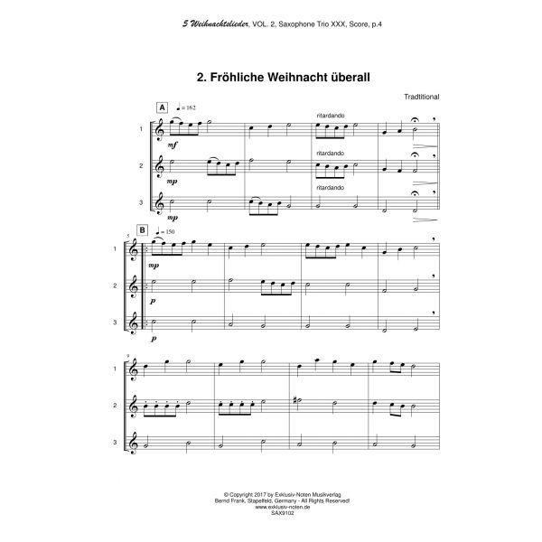 Leichte Weihnachtslieder.5 Weihnachtslieder Vol 1