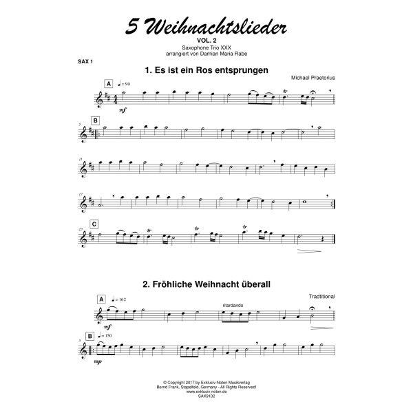 Weihnachtslieder Partitur.5 Weihnachtslieder Vol 1