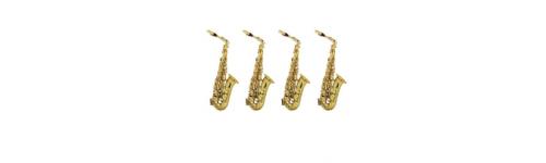 4 saxophones